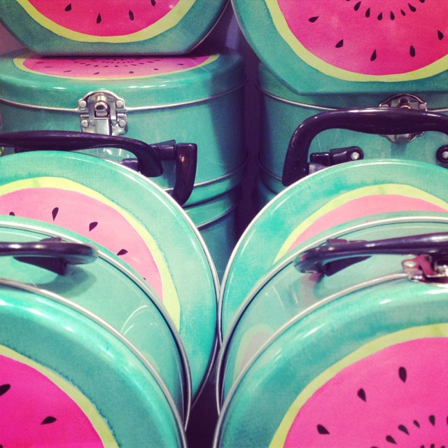 Water melon lunch tins #tiger #kidslunchboxes #littlespree