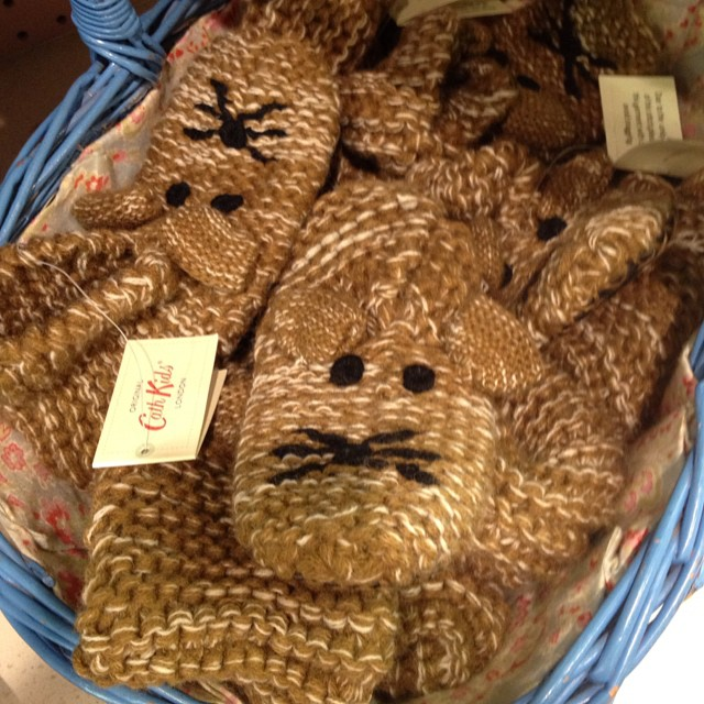 A basket of slippers @cathkidston_ltd @bicestervillage #asseenonlittlespree #littlespree