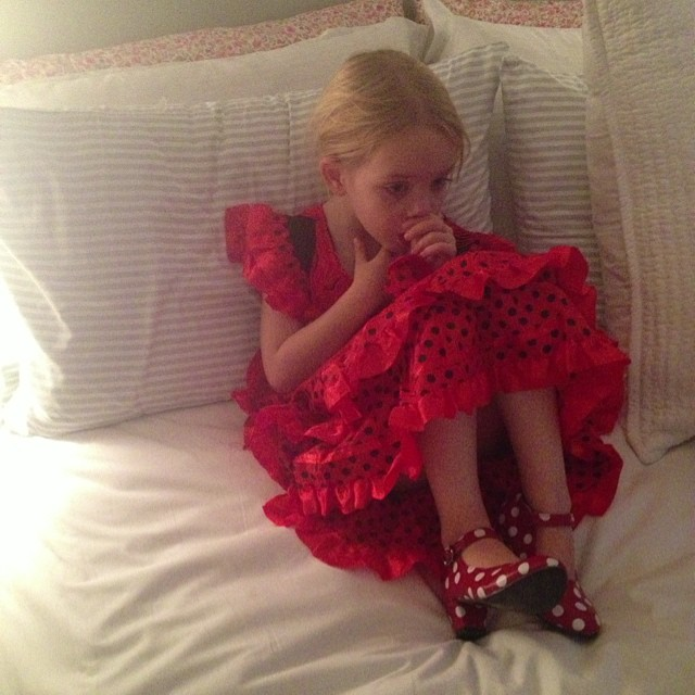 My little flamenco dancer #mallorcapresent #flamencocostume #dressingup #littlespree