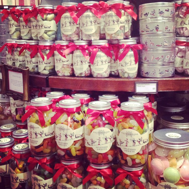 Love these old fashion sweet jars from @fortnumandmason #christmascountdown #stockingfillers #cheapchic #littlespree