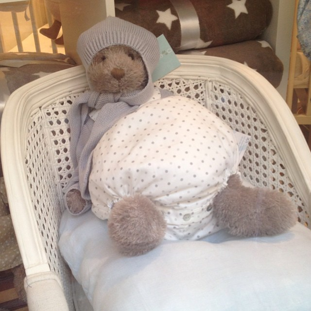 This teddy might be super-chic, but he needs a nappy change #teddies #mallorca #littlespree