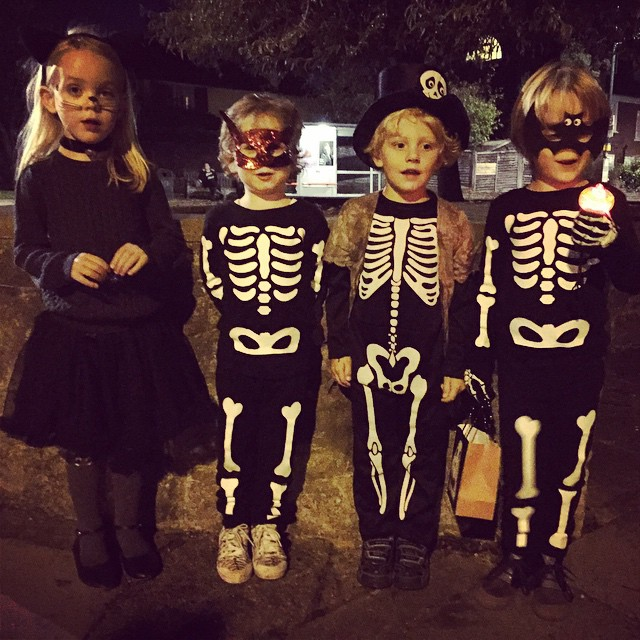 The #littlespree #trickortreating team #richmond