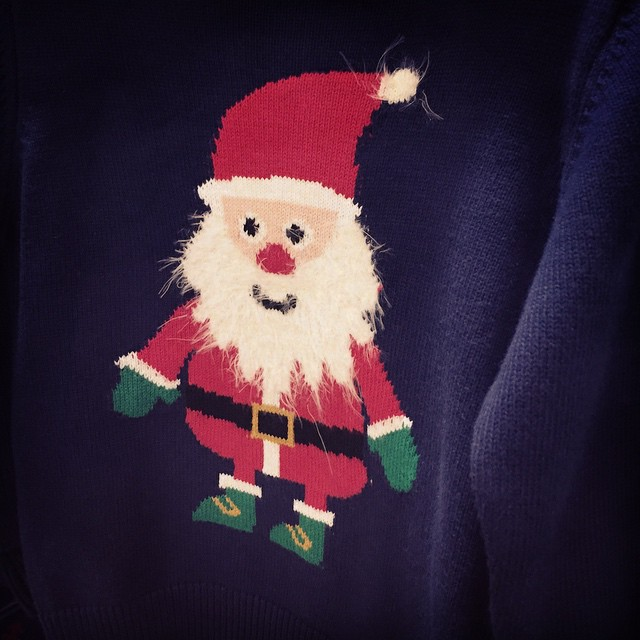 Trying to find a (non-acrylic) Christmas jumper for Bailey for school. Not bad @marksandspencer #littlespree