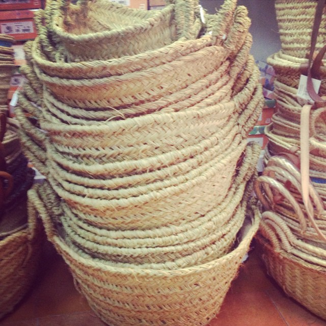 I'm in basket heaven!!! #howmanycanicarry #spanishbaskets #loveabasket #littlespree #excessbaggage