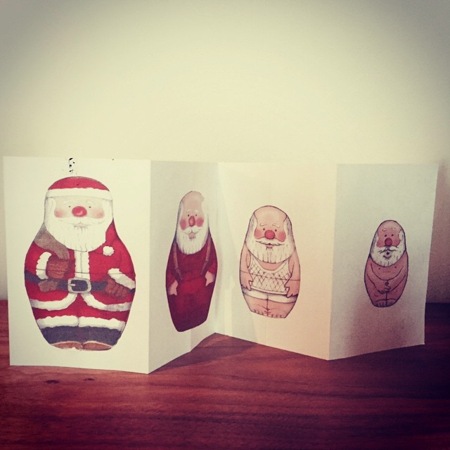 .... handmade by our neighbour.  #christmascard #fun #littlespree