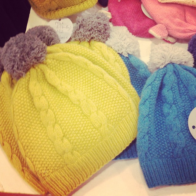 Gorgeous colourful bobble hats in @fenwickbondst #littlespree