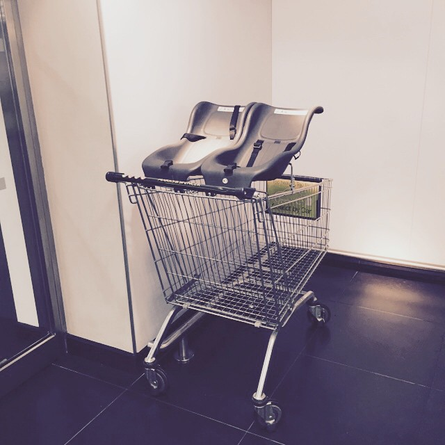Saw this today. Took me back! Feels like yesterday that I had two tiny people in a trolley just like this one... #twins #thefirstyearwasabitfoggy #littlespree @zoobs1 @ksouthworth18
