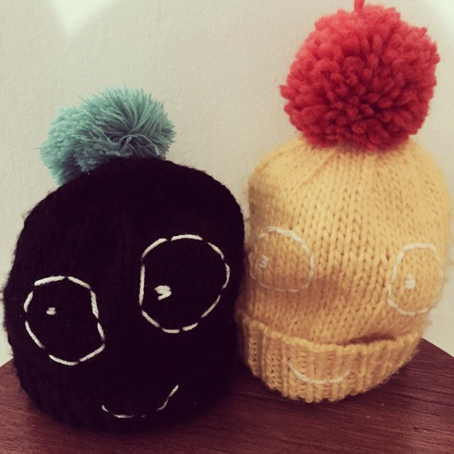 Meet 'Boris' from @indikidual we saw him @dottodotlondon #handknitted #kids #pompom #hats #littlespree #CircusLondonPR