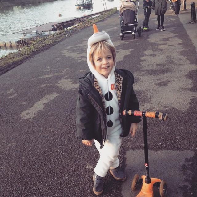 Olaf goes riverside... #littlespree #olaf #frozen