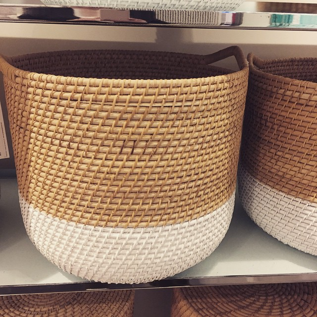 We love these gorgeous baskets from @marksandspencer. Perfect for toy storage. #littlespree #loveabasket #toystorage