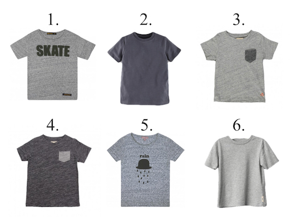 Boys grey t shirt