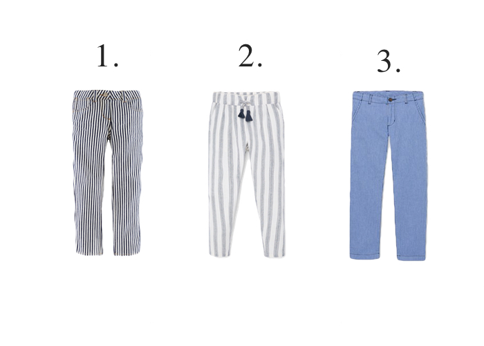 kids stripe trousers