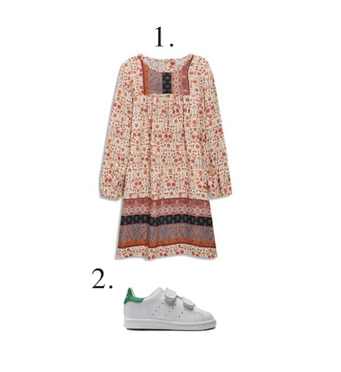 Little Spree: girls dress and trainers
