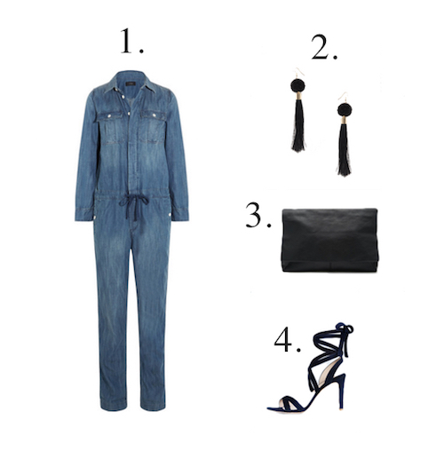 Mama Spree: Denim jumsuit styled for evening