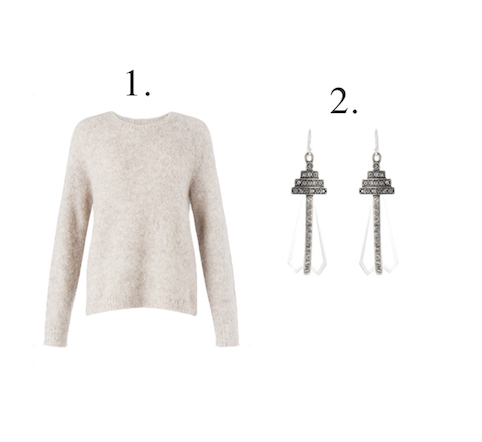 Mama Spree: Statement Earrings And Chunky Knits