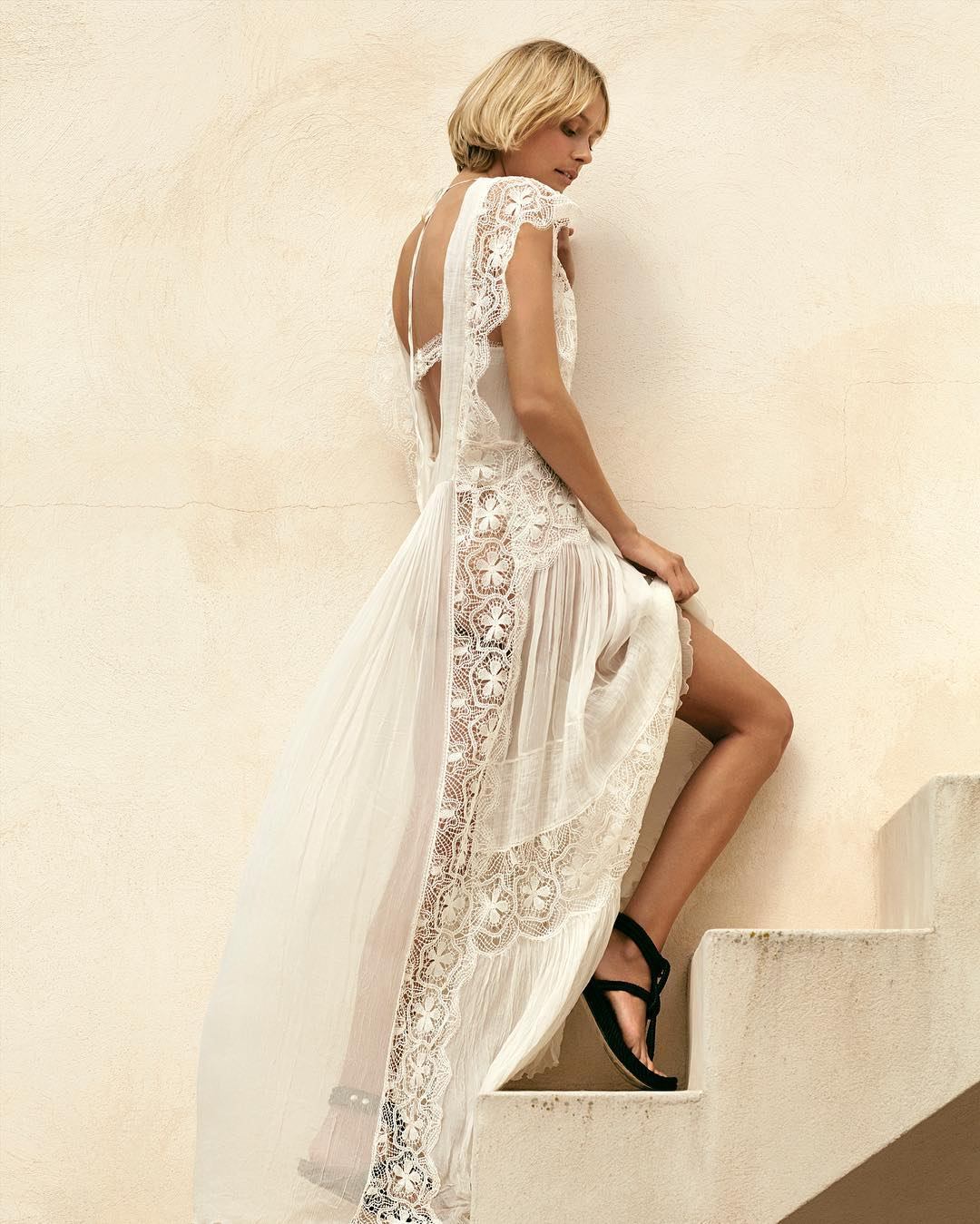 The dreamiest of dresses with surfy sandals in my storyhellip