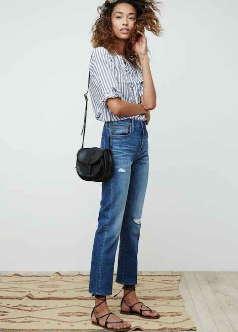 Madewell Striped Cotton-Chambray Shirt - Little Spree