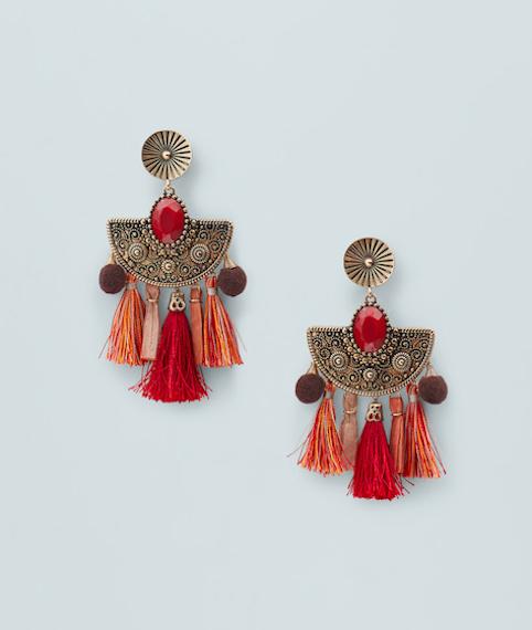 Mango tassel earrings - Little Spree