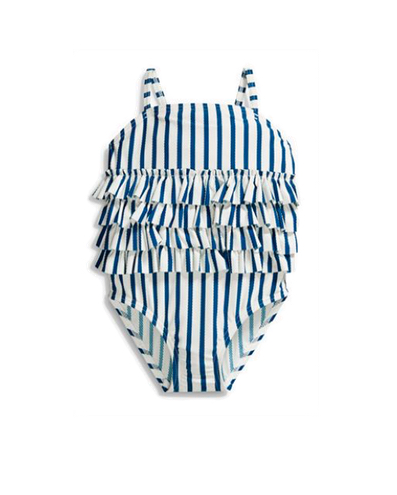 Next girls striped ruffle swimsuit - LITTLE SPREE