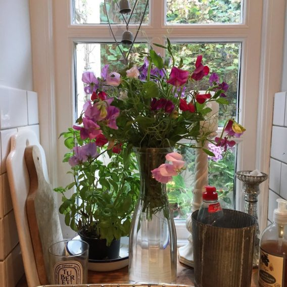 Sweet peas from the garden SC itsthelittlethings gardenflowers home Readnbspmore