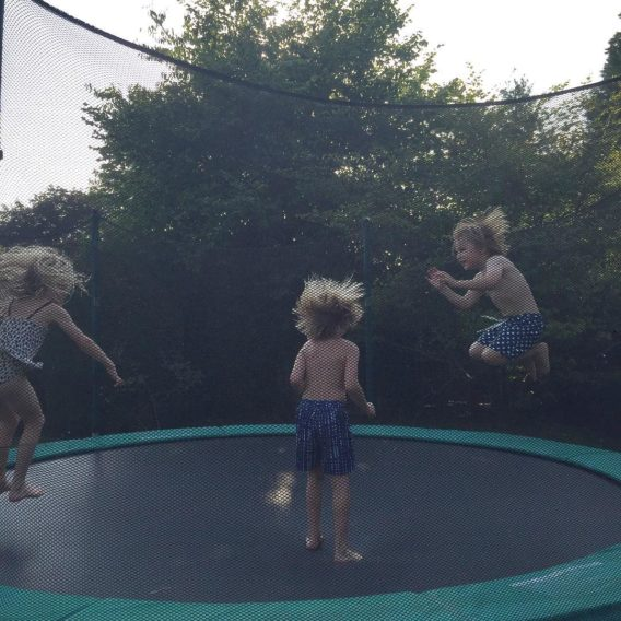 A bounce before a swim carolinefionaclark cousins summerholidays tabitha marlowhellip