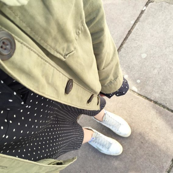Spots khaki and high tops SC wiwt ootd mamaspree littlespreehellip